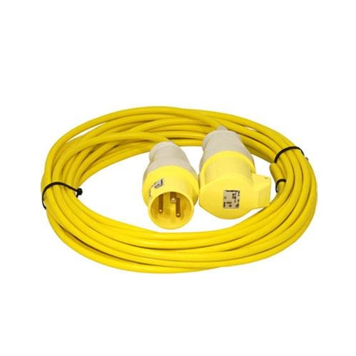 110v yellow extension lead 32a x 10m