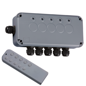Waterproof 5 Gang Remote Controlled Switch Box 13A IP66