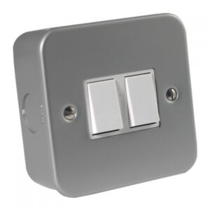 Metal Clad 2 Gang 2 Way Switch