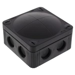 Black-wiska-combi-junction-box-ip65